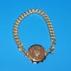 SOS-Kettenarmband vergoldet, 19 cm (1 Stück)