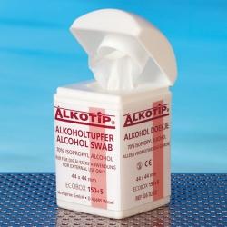 Alkoholtupfer Alkotip Spenderbox (155 Tupfer)