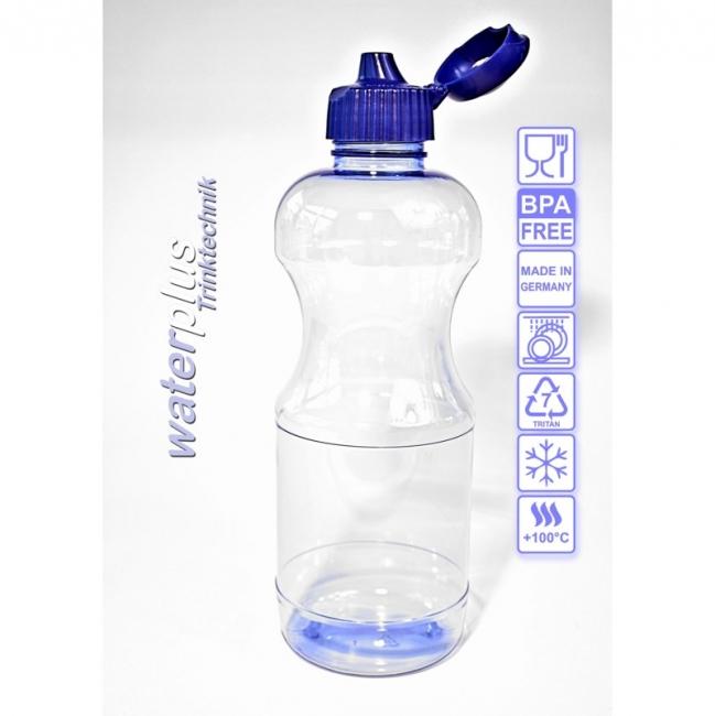 Tritan-Trinkflasche 0,5 l (rund) mit Trinkdeckel