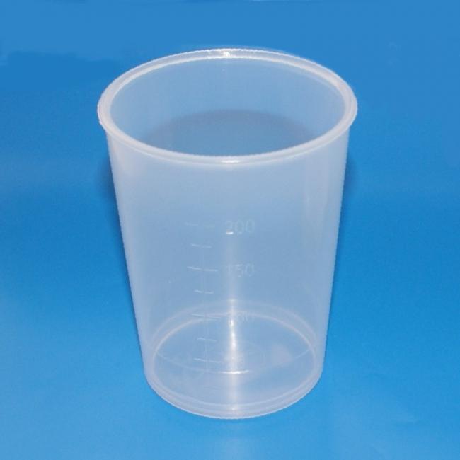 Schnabelbecher Kunststoff, transparent, 250 ml, graduiert, spülmaschinenfest