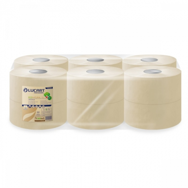 Toilettenpapier EcoNatural Jumbo, 2-lagig, 180 m (12 Rollen)