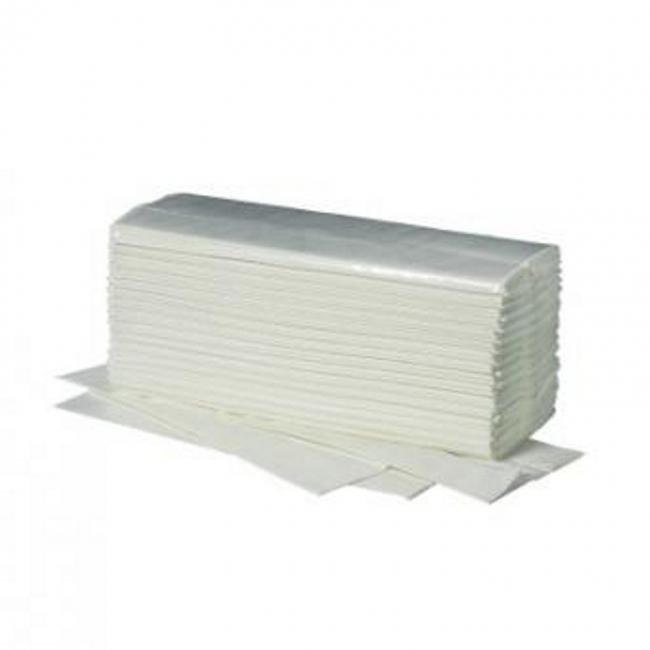 Papierhandtücher Fripa Ideal 25 x 50 cm, 1-lagig weiß, C-Falz (2400 Stück)